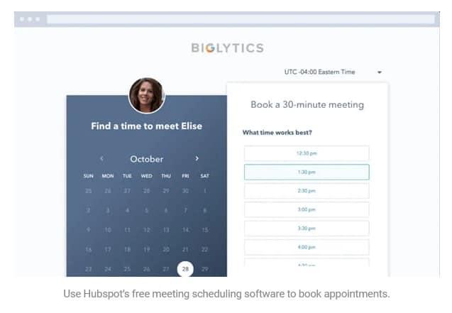 HubSpot's Meeting Scheduling Tool