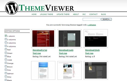 wordpress theme viewer